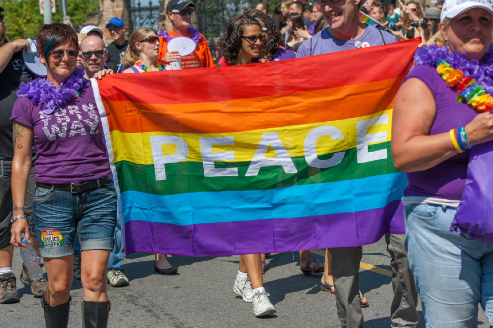 Festival goers can see the colourful Pride Parade