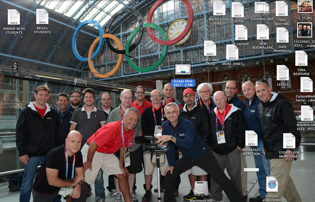 The 'newspaper guy' heads up the Sun Media team at the 2012 London Olympics. Here they gather at St. Pancras International Station on the final day.