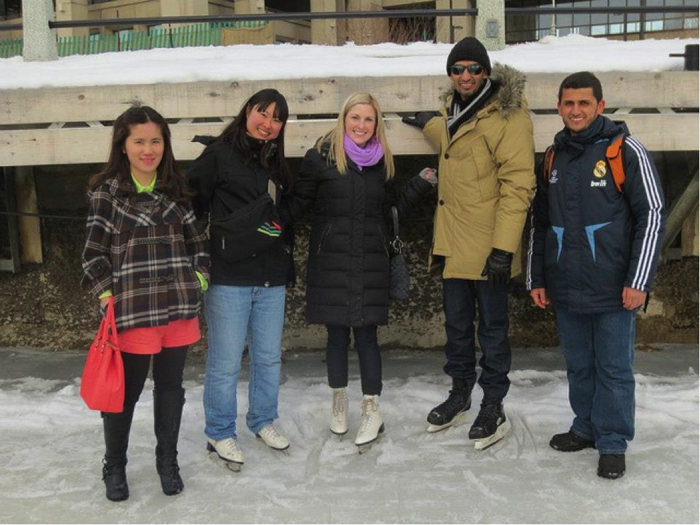 CultureWorks students on the Ottawa campus enjoy some skating fun!
