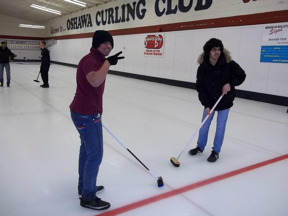 CultureWorks students try out curling – a popular sport in Canada!