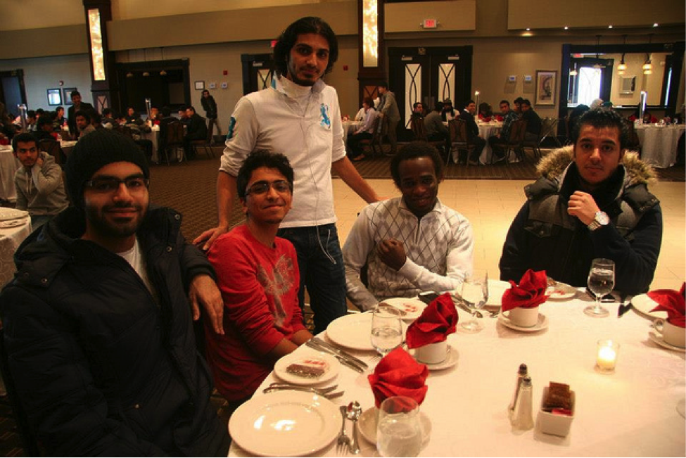 CultureWorks students get to know each other at the Oshawa holiday party