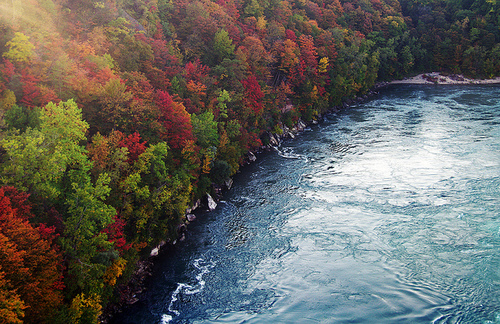 Niagara River in Fall, Courtesy of http://www.tumblr.com/tagged/whirlpool?before=18