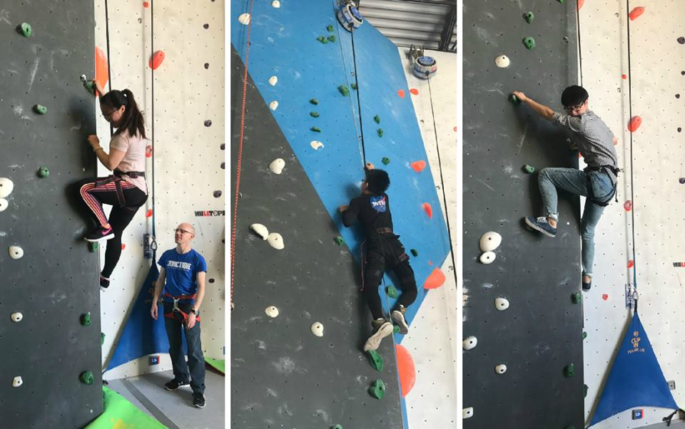 CultureWorks students enjoy an afternoon of rock climbing for a fun challenge