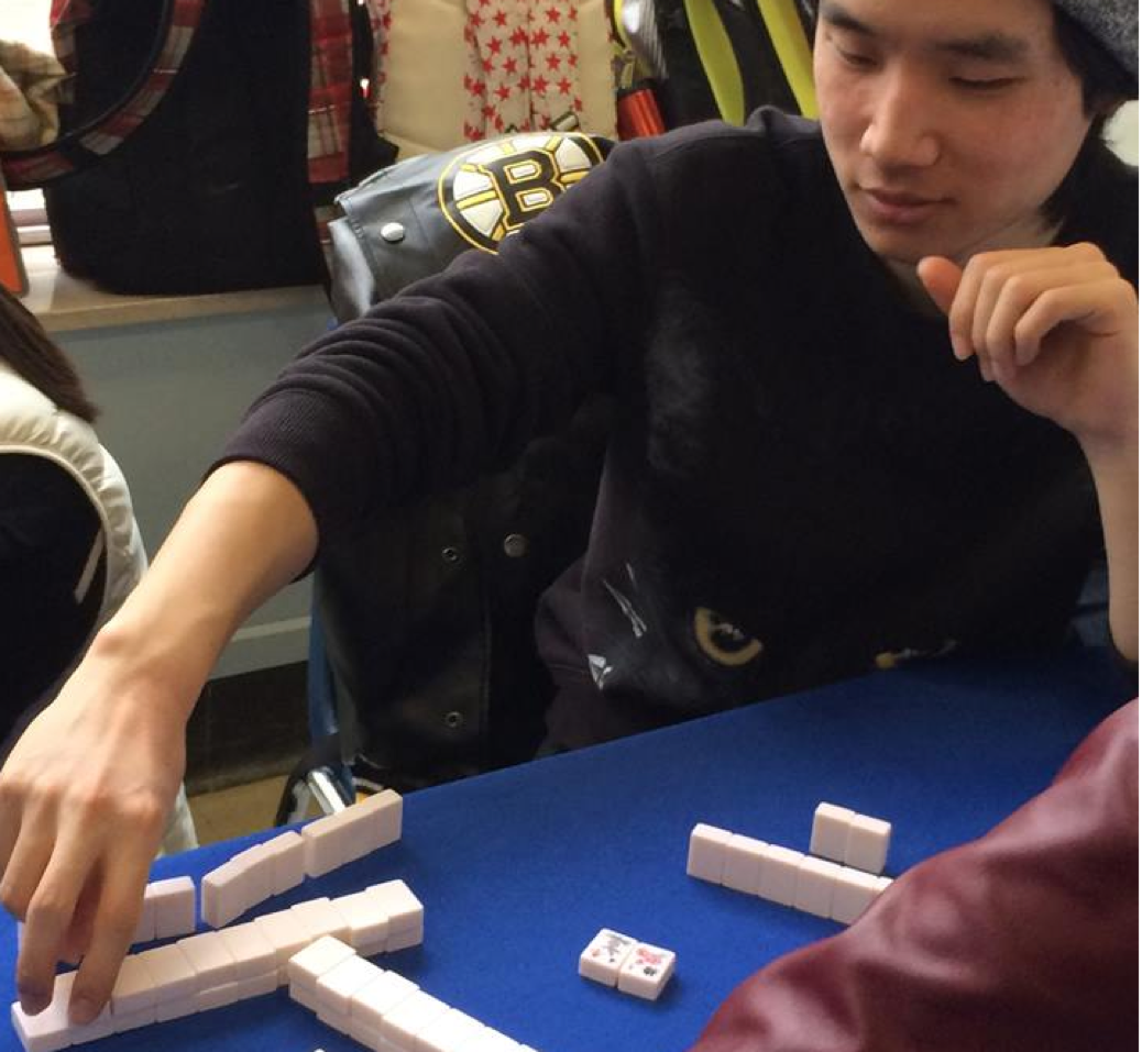 A student plays with friends at a CultureWorks game event