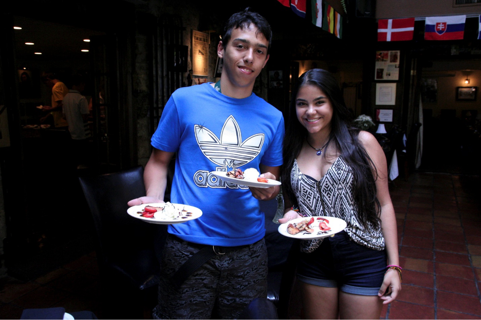 CultureWorks students make and share foods from their home countries