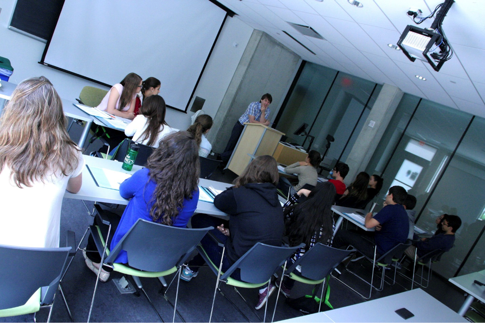 CultureWorks students at King's University listen to class lectures in English