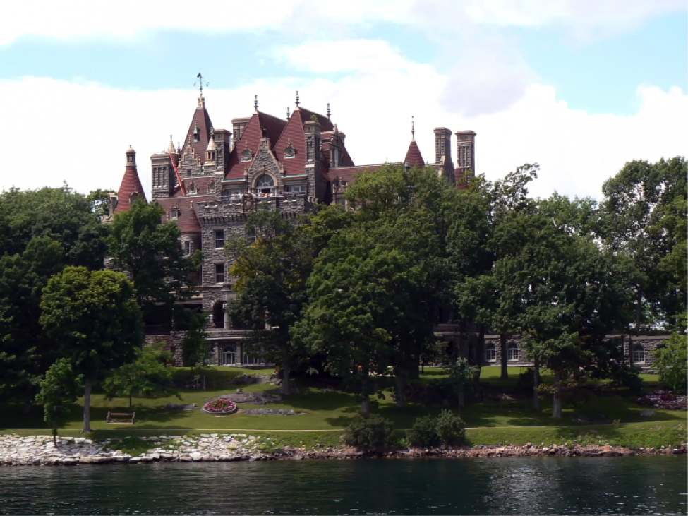 Boldt Castle on the banks of the St. Lawrence River