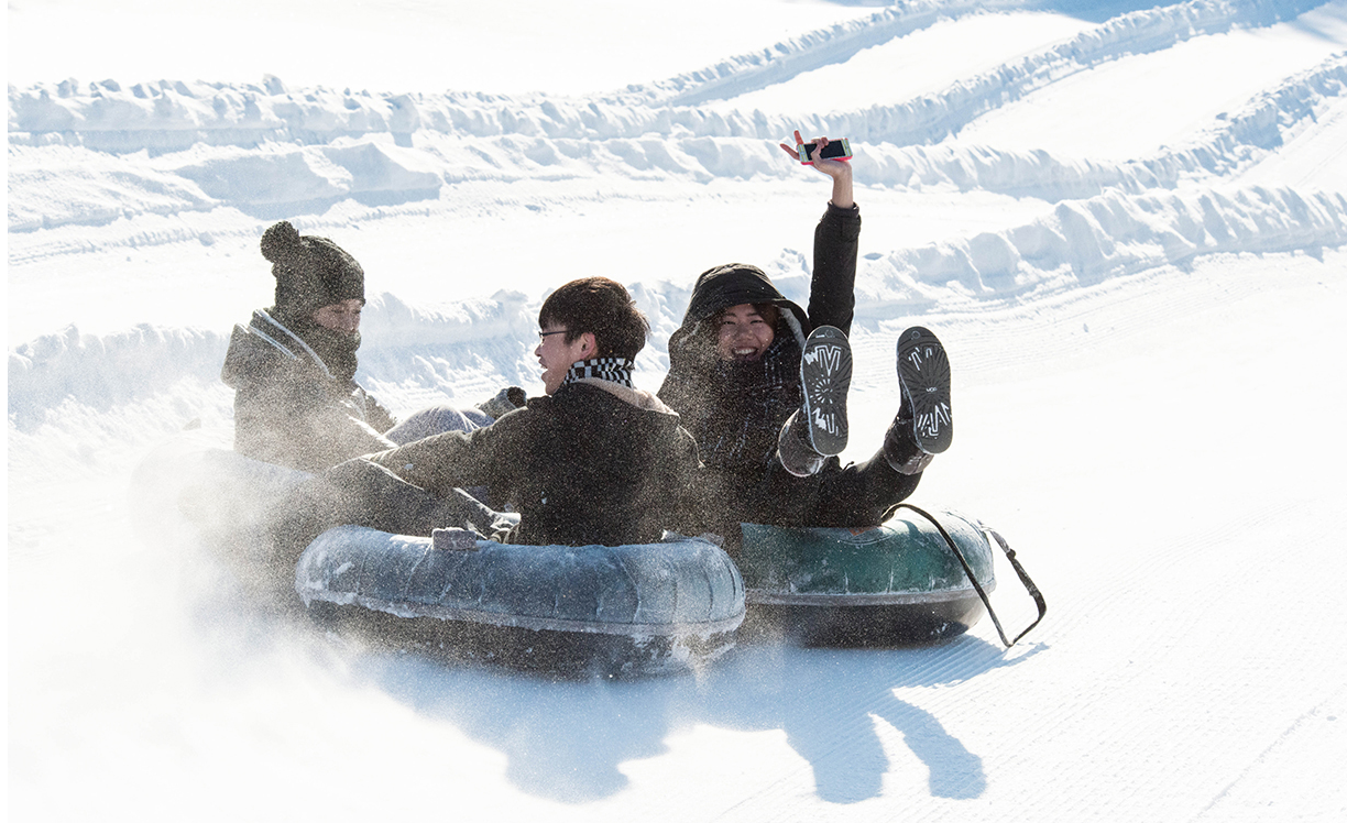 In winter, CultureWorks students go snow-tubing in London, Ontario