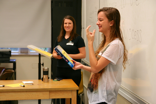 CultureWorks students practice their English language skills to get ready for university
