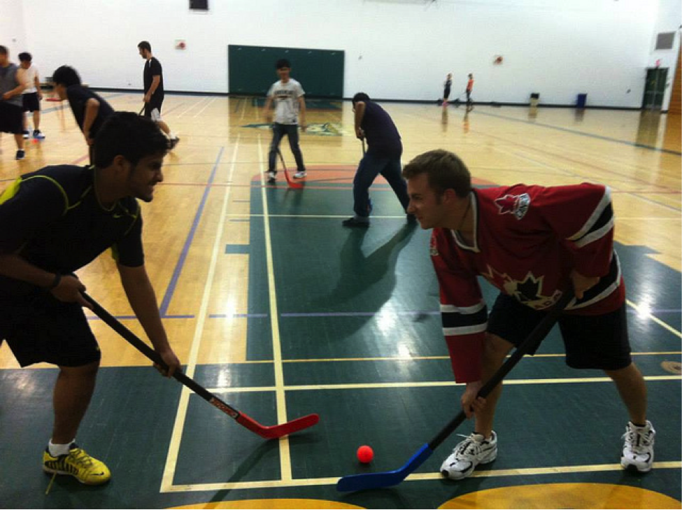 CultureWorks students practise their English and learn Canada's favourite sport