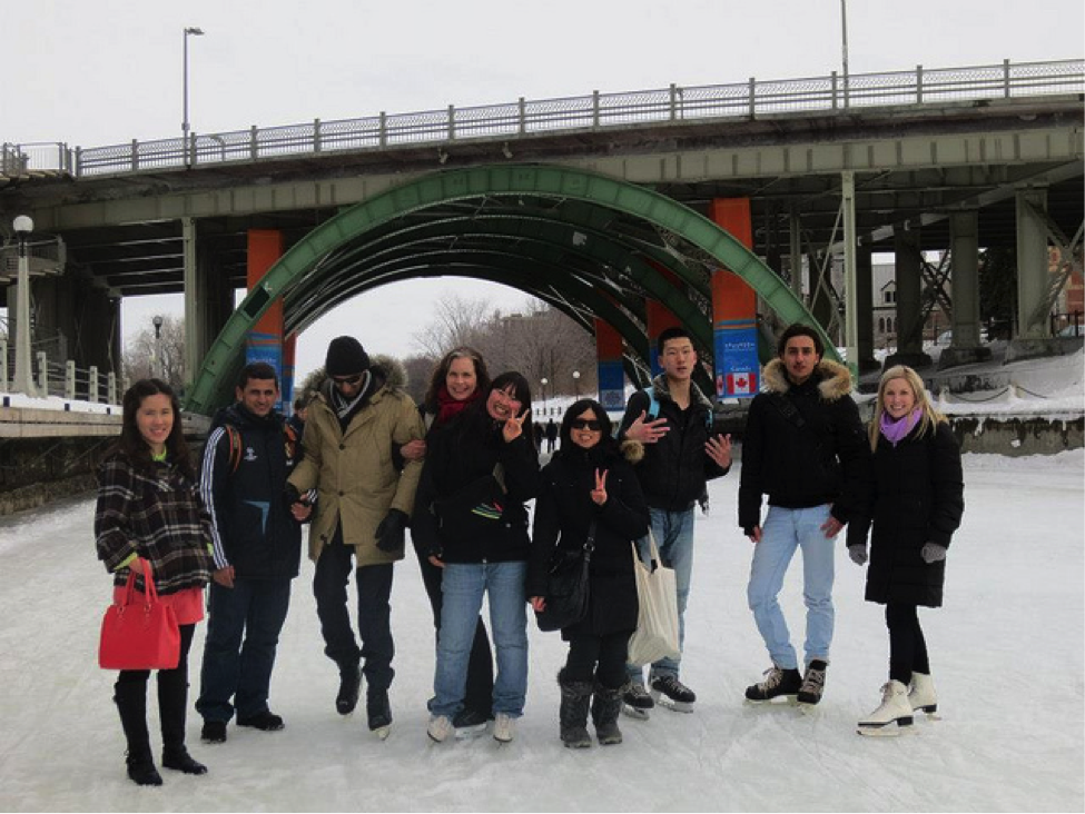 CultureWorks students on a skating trip in Ottawa