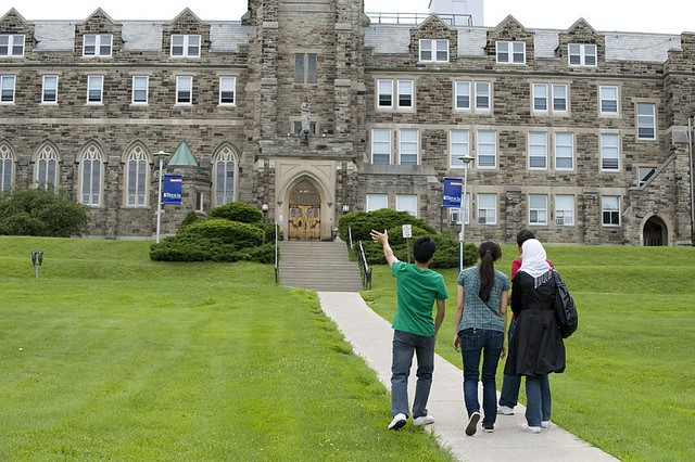 CultureWorks students on campus at Western University in Ontario, Canada