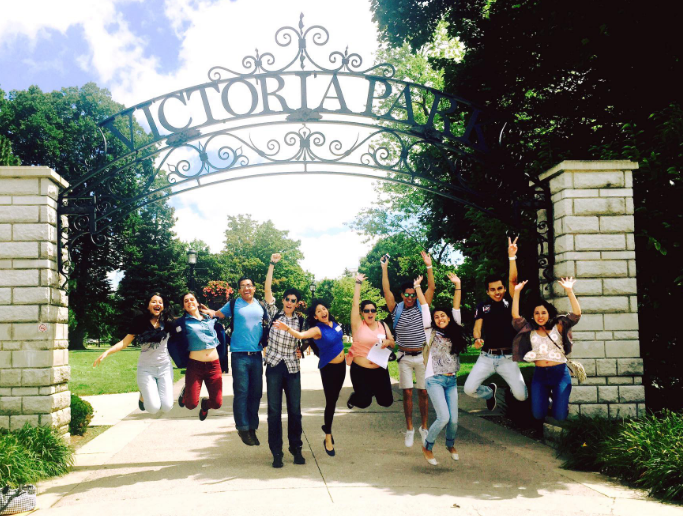 CultureWorks students have fun at Victoria Park in London, Ontario