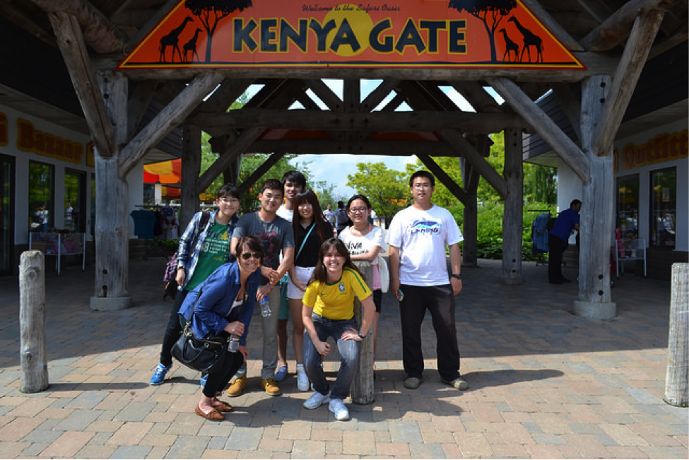 CultureWorks students visit the African Lion Safari outside of London, Ontario