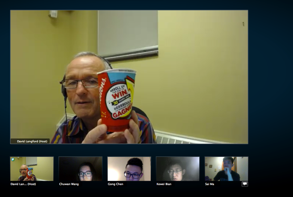 CultureWorks students talk about the Roll up the Rim to Win contest during the Daily Boomalang